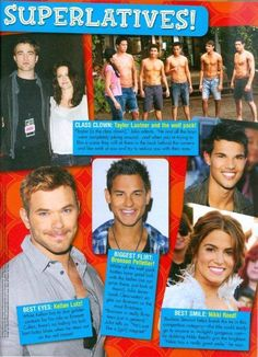 BOOBOO STEWART - TAYLOR LAUTNER - SHIRTLESS - TWILIGHT - PINUP - TEEN BOY ACTOR  | eBay