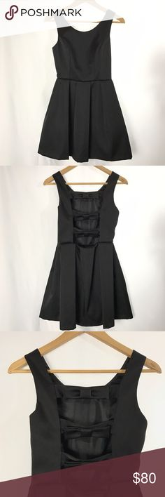 Topshop Black Satin Bow Detail Dress In excellent condition, only worn once. Additional photos and info available upon request. Topshop Dresses Prom