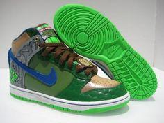 Nike Dunk Leonardo Custom Sneakers
