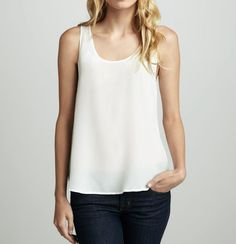 High Quality luxury 100% Silk satin Tank top Size M