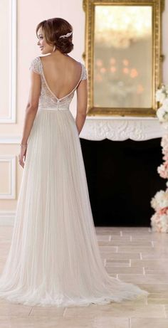 Wedding Dresses Lace 2019 6628 Casual Sophisticated Wedding Dress by Stella York.Wedding Dresses Lace 2019 6628 Casual Sophisticated Wedding Dress by Stella York Wedding Dresses 2018, Affordable Wedding Dresses, Elegant Wedding Dress, Gown Wedding, Stella York Wedding Gowns, Designer Wedding Gowns, Bridal Designers, Sophisticated Wedding Dresses, Sophisticated Bride