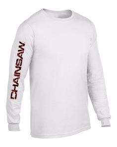 Chainsaw Brands Mens Long Sleeve - White Trainer