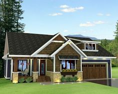 House Plan 42622 | Craftsman Plan with 1807 Sq. Ft., 3 Bedrooms, 2 Bathrooms, 2 Car Garage at family home plans