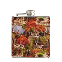 "Title : Cabin Lodge Forest Scene.JPG Hip Flask  Description : Rustic, ""Cabin-Lodge"", Animals, Wildlife, ""Accent-Pillows"", ""Log-Cabin"", ""Hunting-Lodge"", ""Fall-Season"", ""Tribal-Borders-Animal-Prints"", ""Black-Forest-Décor"", Whimsical, Ikat, ""Faux-Leather-Prints"", ""Native-American-Indian"", Tribal, ""Animal-Prints"", ""Western-Southwest-Prints"", Traditional, Modern, Bohemian, ""Country-Cottage"", Vintage, Kilim,  Product Description : <div>  Size: Vinyl Wrapped Flask, 6 oz.    <div>    <p>Be prepared…"