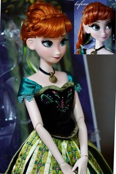 OOAK Limited Edition Anna doll, face repainted, hair restyled.