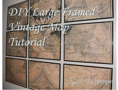 Recycling diy decor projects using reusable stuff you can find at restoration hardware inspired large vintage world map tutorial diy project solutioingenieria Choice Image
