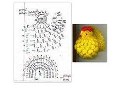 I want to share with you this video tutorial of how to make crochet easter chickens Crochet Diagram, Filet Crochet, Crochet Motif, Crochet Doilies, Crochet Flowers, Christmas Crochet Patterns, Holiday Crochet, Crochet Gifts, Crochet Amigurumi