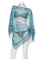 #exclusivesMIX Missoni EXCLUSIVE Fringe Poncho: Blue