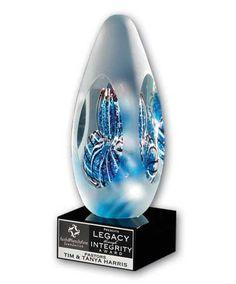Blue Bubbles Art Glass Award