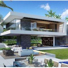 Trendy Home Modern Luxury Decor Ideas Villa Design, Modern House Design, Luxury Homes Dream Houses, Modern Mansion, Dream House Exterior, Luxury Decor, Luxury Interior, Prefab Homes, Facade House
