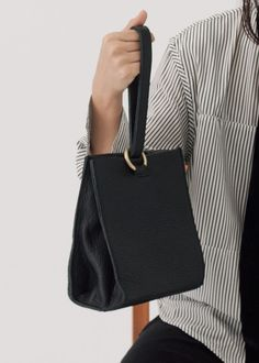 Introducing Skylar - a minimal designed bag to create an edgy look Real leather Length - 19 cm Width cm Height - 22 cm - Unadjustable shou. Black Leather Bags, Leather Handbags, Real Leather, Craft Bags, Leather Gifts, Simple Bags, Leather Projects, Cute Bags, Beautiful Bags