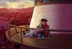 Sunset at Kingsport Lighthouse by Red-Flare on DeviantArt Fallout Comics, Fallout Art, Fallout 4 Hancock, Fallout 4 Companions, Nuka Cola Quantum, John Hancock, Red Flare, Fall Out 4, Neon Wallpaper
