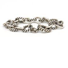 David Yurman Oval Link Chain Bracelet in Sterling Silver  #DavidYurman #Chain