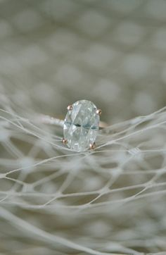 Engagement Photography Inspiration: Oval diamond ring (Elizabeth Fogarty via Bayside Bride)
