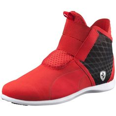 Puma Ferrari Women's Ankle Boot ($90) ❤ liked on Polyvore featuring shoes, boots, ankle booties, short boots, puma boots, ankle boots, elastic boots and ankle bootie boots