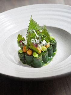 Tofu gnocchi, nettles, and chickpeas by chef Matt Lambert. © Signe Birck. - See more at: http://theartofplating.com/editorial/awakening-the-spirit-of-new-zealand-with-matt-lambert-at-the-musket-room/#sthash.OPBepvZv.dpuf