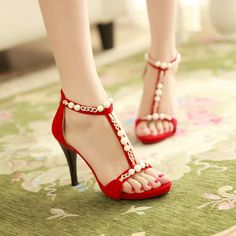 33.60$  Buy now - http://alixvt.shopchina.info/go.php?t=32781873981 - shoes woman New Sexy Fashion Faux Pearl Rhinestone Sandals Women Platform Open Toe Summer Wedding Shoes High Heels Sandals  #bestbuy