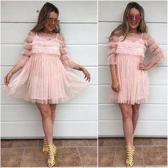 Romantické šatočky dvojvrstvové veľkosti SML  IHNEĎ K ODBERU  3890 #pinkdress#lovemoda#dnesnosim#dnesobliekam#tvojstylfashion