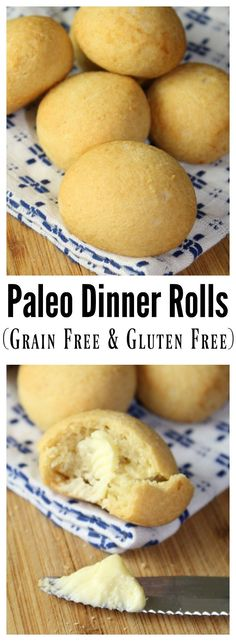 Paleo Dinner Rolls are grain free and gluten-free, and made with a combination of Tapioca and Coconut Flour.These Paleo Dinner Rolls are grain free and gluten-free, and made with a combination of Tapioca and Coconut Flour. Gluten Free Baking, Gluten Free Recipes, Easter Recipes Paleo, Gluten Free Bread Rolls Recipe, Pumpkin Recipes, Desayuno Paleo, Whole Food Recipes, Cooking Recipes, Diet Recipes