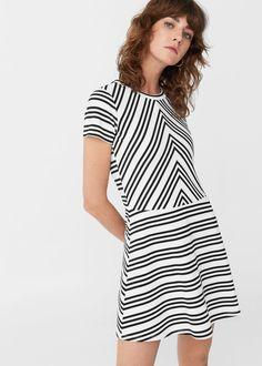 Vestido algodón rayas - Vestidos de Mujer   MANGO España