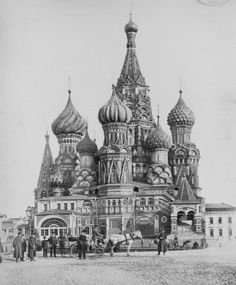 Vintage photos of Moscow in the past century) Architecture Drawing Art, St Basil's, Imperial Russia, Moscow Russia, Vintage Pictures, Old Photos, Barcelona Cathedral, 19th Century, The Past