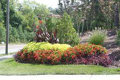 Commercial Landscape Design, Commercial Landscaping, Flower Beds, Bloom, Colorful, Plants, Inspiration, Beds, Flowers