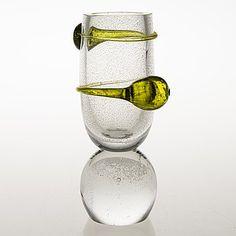 "TIINA NORDSTRÖM - Lasiveistos ""Pluto"", sign. Tiina Nordström 1992 Iittala. Korkeus 23,5 cm. Glass Design, Design Art, Finland, Modern Contemporary, Vases, Scandinavian, Glass Art, Retro Vintage, Collection"