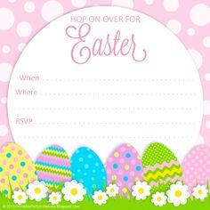 Cute Easter Egg Hunt Invitations Easter Pinterest