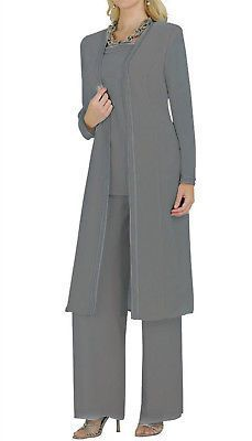 Wedding Mother Of The Bride Dresses Pants Outfits Long Sleeve Floor Length Mother Of The Bride Trousers, Mother Of The Bride Suits, Mother Of Bride Outfits, Mother Of Groom Dresses, Bride Dresses, Pants Outfit, Jacket Dress, Dress Pants, Peplum Dresses