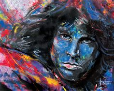 New larger sized Giclee art print of Jim Morrison of the rock band the Doors. Created from an original oil painting on canvas The Doors, Jim Morrison, Rock Music History, Ray Manzarek, Drums Art, King Art, American Poets, Music Gifts, International Artist
