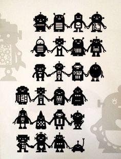切り絵「ROBOTS」