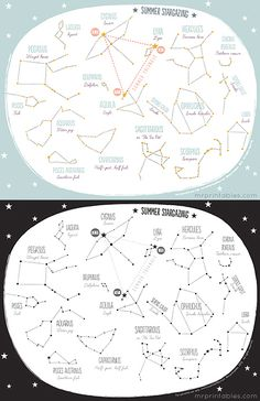 Constellations for Kids Worksheets Printable Summer Constellation Map Mr Printables Mr Printables, Printable Maps, Free Printable, Constellation Craft, Colegio Ideas, Maps For Kids, Charts For Kids, Science, Space Theme