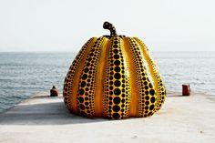 Yayoi Kusama pumpkin Benesse House Naoshima Island Japan