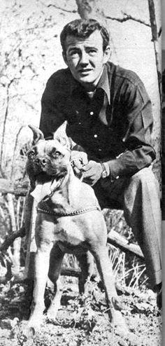 Actor Robert Walker and dog