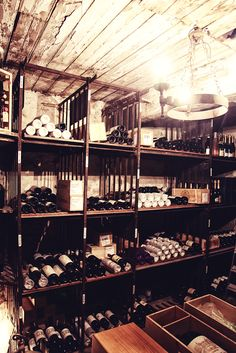 Berry Bros & Rudd's historic wine vaults - located underneath the storefront. 350+ years of history and some very pricey vino...