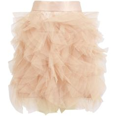 Eileen Kirby Layered Tulle Puff Bubble Skirt (810 BRL) ❤ liked on Polyvore featuring skirts, mini skirts, bottoms, saias, gonne, eileen kirby, red mini skirt, puff skirt, puffy skirts and tulle mini skirt