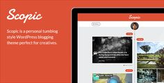 Scopic is a personal timeline tumblog WordPress theme perfect for creatives. With built-in rich media post formats you can share your images, photos, videos, music and more.