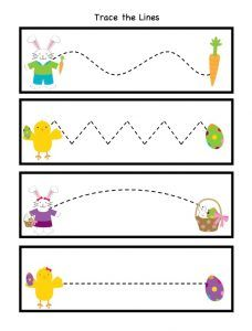 Happy Easter Worksheet for Kids - Preschool and Kindergarten Preschool Writing, Free Preschool, Preschool Printables, Preschool Worksheets, Preschool Learning, Preschool Crafts, Preschool Teachers, Free Printables, Kindergarten Math