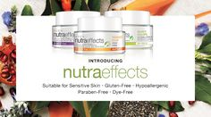 Introducing nutraeffects. Suitable for sensitive skin. SHOP NOW »