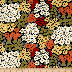 Designed by Sarah Campbell for Michael Miller Fabrics, this cotton print collection features a vintage 70's color story, with modern minimalistic prints that remind us of a calm beach on the eastern seaboard. Perfect for quilting, apparel, and home decor accents. Colors include black, cream, orange, yellow, olive green, and grey.