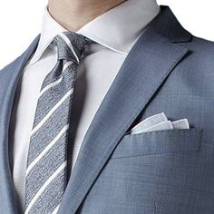 http://chicerman.com - Light blue tailored suit