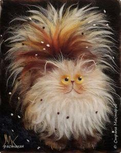 По мастер классу Яны Богдановой. Забавные коты Ким Хаскинс. фото 1