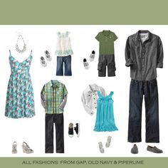 spring summer portrait clothing ideas what to wear coral teal green photography photos