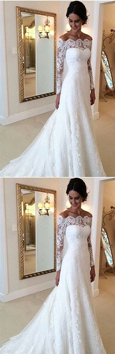 White Lace Wedding Dress, Lace Bridal Dress, by PrettyLady on Zibbet