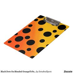Black Dots On Blended OrangeToYellow Clipboards