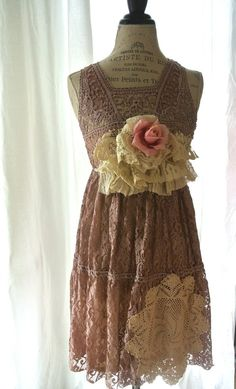 lace dress.. shabby slip dress