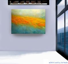 Large ABSTRACT PAINTING  original contemporary art by leearte, $535.00-40 x 30