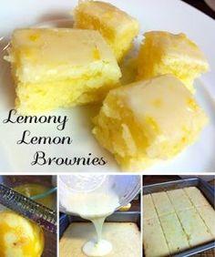 Lemony Lemon Brownies ~ cook this meals