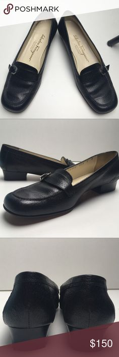⚜️⚜️Salvatore Ferragamo⚜️⚜️Black Leather Loafers A CLASSIC. These Salvatore Ferragamo's are previously loved, but aside from the scuffing on the soles (as shown👀) there is no other visible damage or signs of wear. Up for negotiations👍🏻  Make me an offer within reason🛍🛍 Salvatore Ferragamo Shoes Flats & Loafers