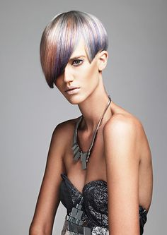 Soft shades with interesting tonal transitions Love the color - an idea when I finally decide to transition to grey.